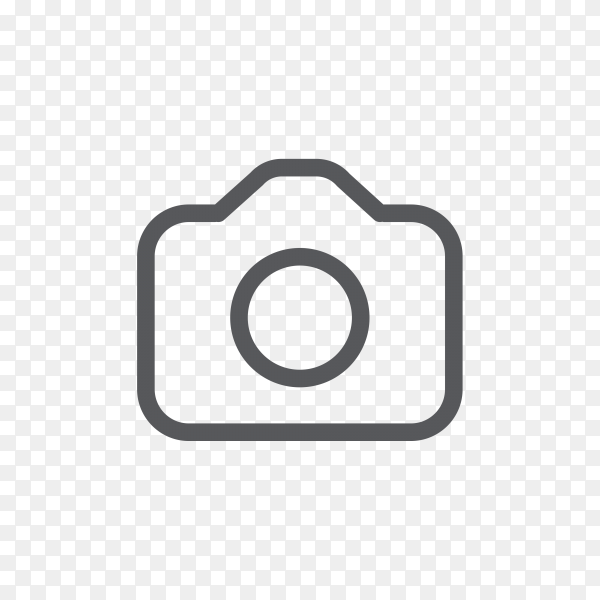 Camera Instagram icon on transparent background PNG
