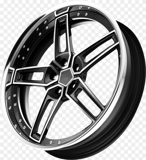 Car alloy wheel on transparent background PNG