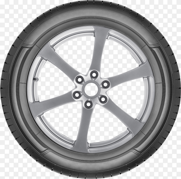 Car tire wheel isolated on transparent background PNG