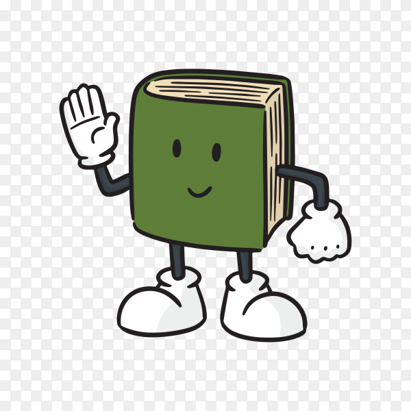 Cartoon book on transparent background PNG