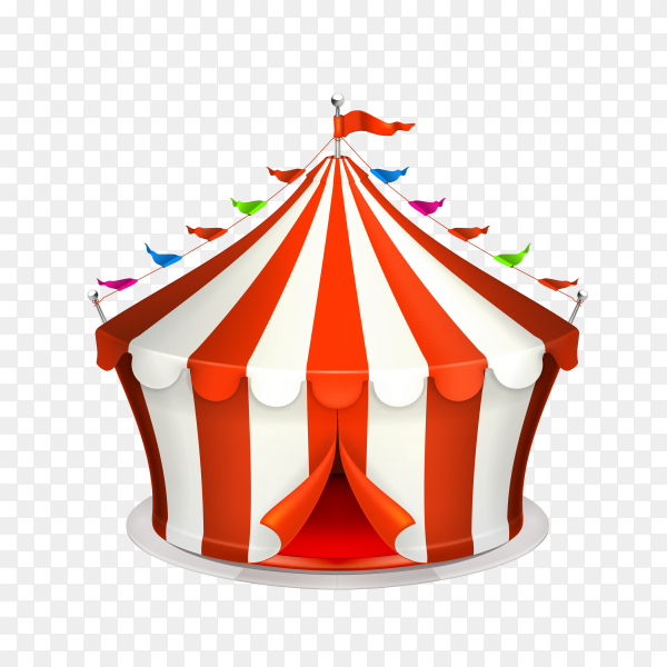 Circus Tent Isolated on transparent background PNG