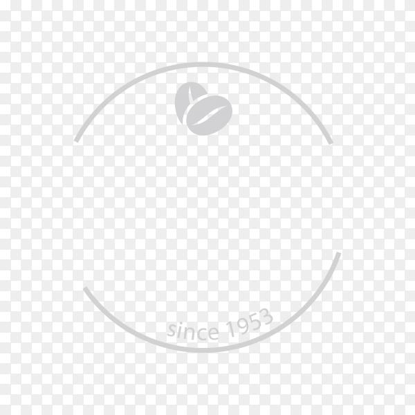 Coffee logo design symbol on transparent background PNG