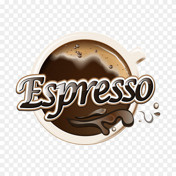 Coffee logo design template on transparent background PNG