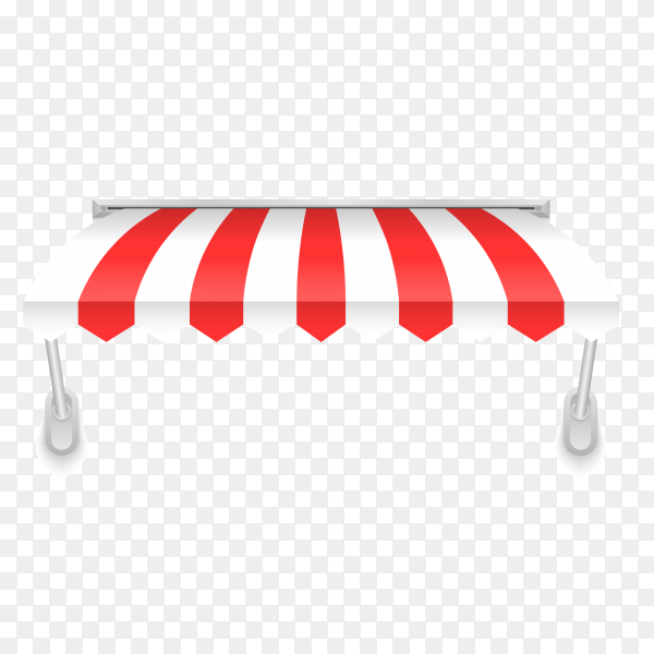 Colorful Awning for shop with flat design on transparent background PNG