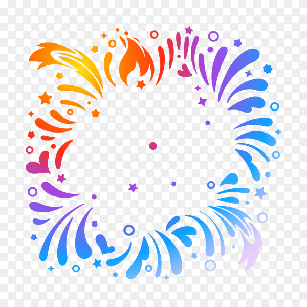 Colorful firework to happy celebration event on transparent background PNG