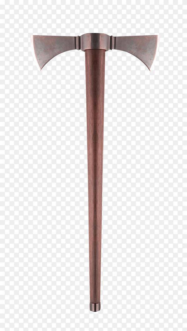 Double axe isolated on transparent background PNG