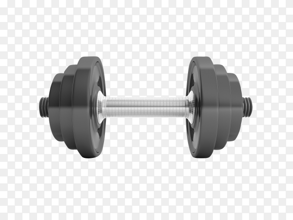 Dumbbell isolated on transparent background PNG