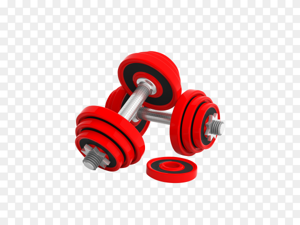 Dumbbells isolated on transparent background PNG