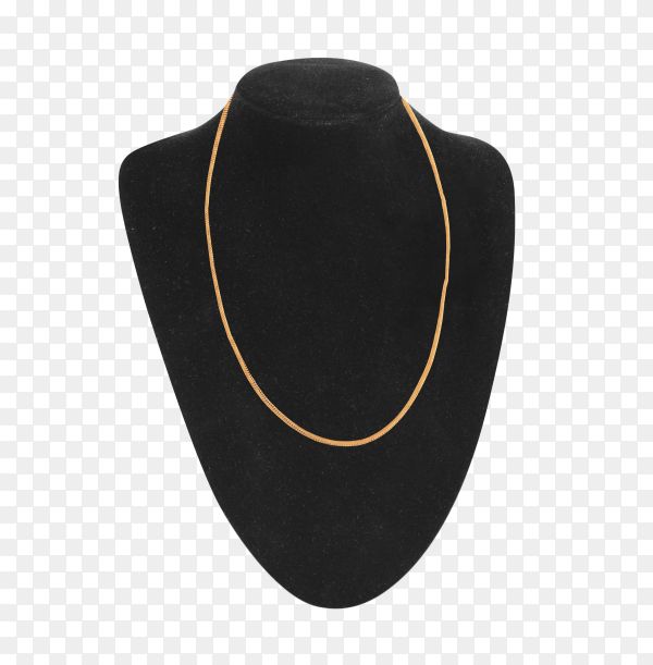 Dummy neck for jewelry isolated on transparent background PNG