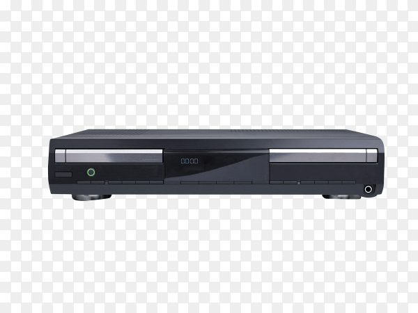 DVD Player isolated on transparent background PNG