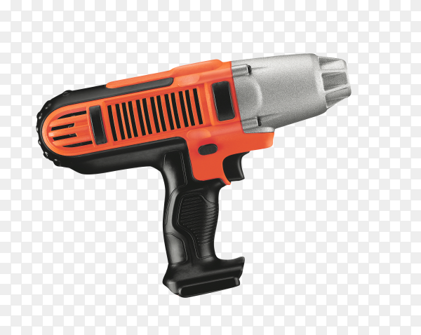 Electric drill isolated on transparent PNG