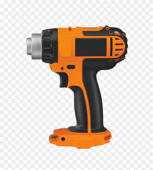 Electric screwdriver isolated on transparent background PNG