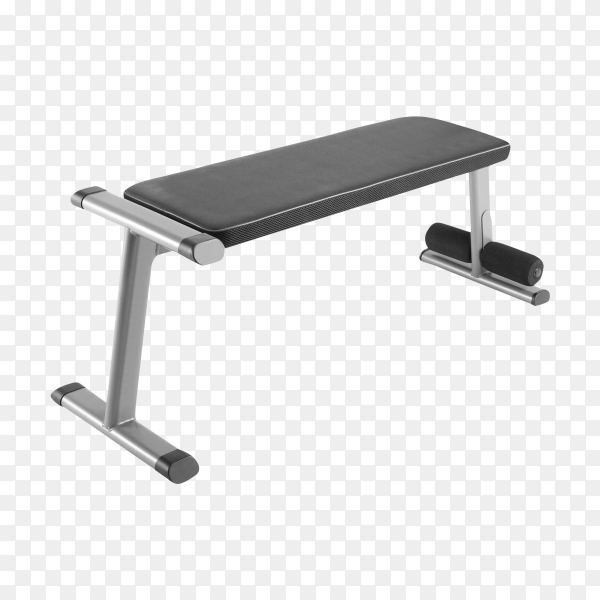 Exercise Weight Bench on transparent background PNG