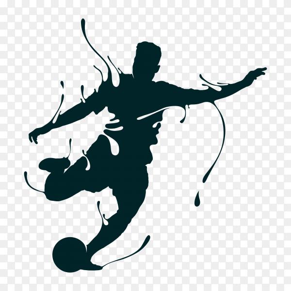 Football shoot splash illustration on transparent background PNG