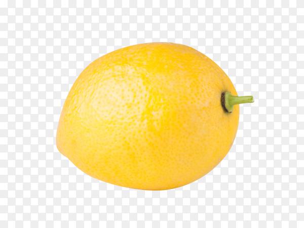 Fresh lemon isolated on transparent background PNG