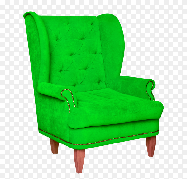 Furniture chair isolated on transparent background PNG