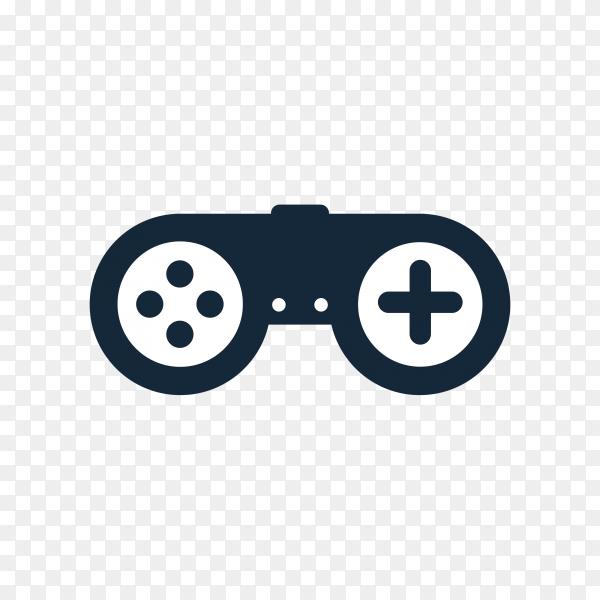 Gaming logo design template on transparent background PNG
