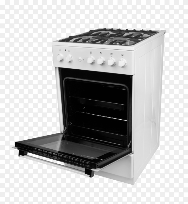 Gas stove isolated on transparent background PNG