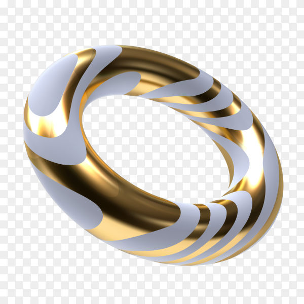 Gold and white ring on transparent background PNG