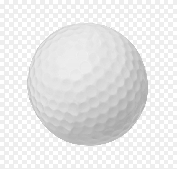 Golf ball isolated on transparent background PNG