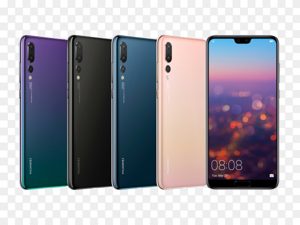 HUAWEI mobile phone on transparent background PNG