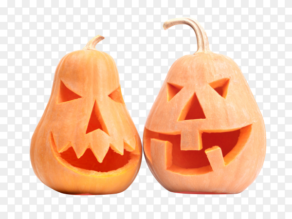 Halloween pumpkins isolated on transparent background PNG