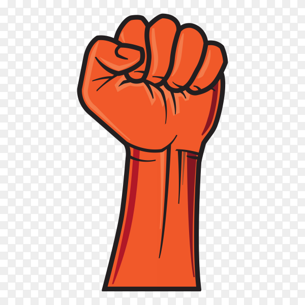 Hand fist on transparent background PNG