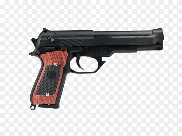Hand gun isolated on transparent background PNG