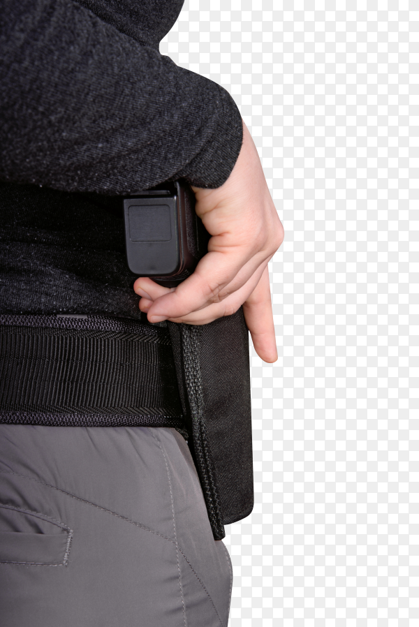 Hand with a gun on transparent background PNG