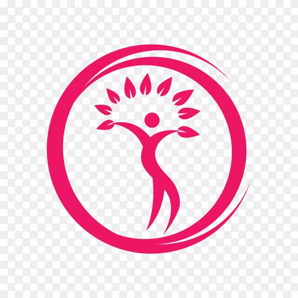 Health care logo on transparent background PNG