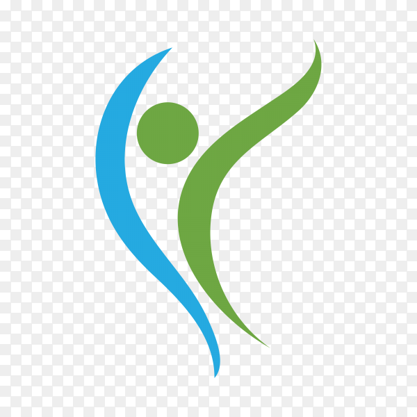 Healthy Life Concept Logo Design on transparent background PNG