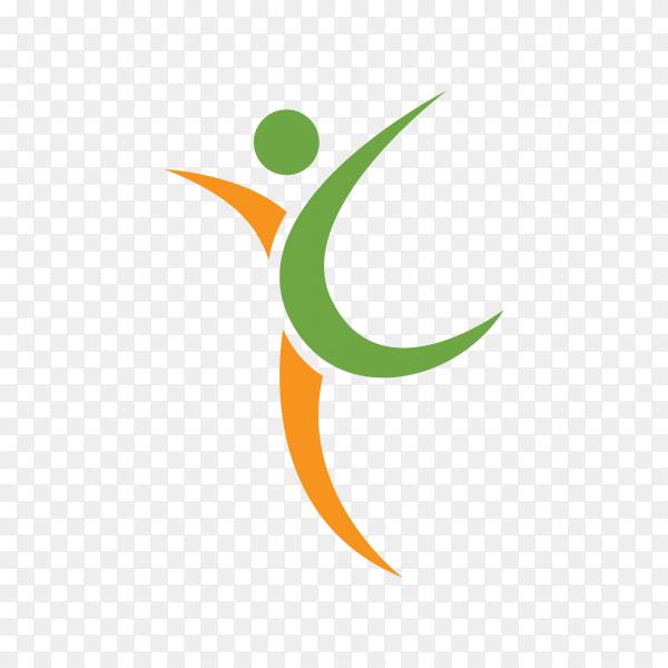 Healthy life logo on transparent background PNG