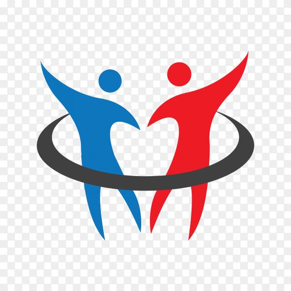 Healthy logo or medical logo design template on transparent background PNG