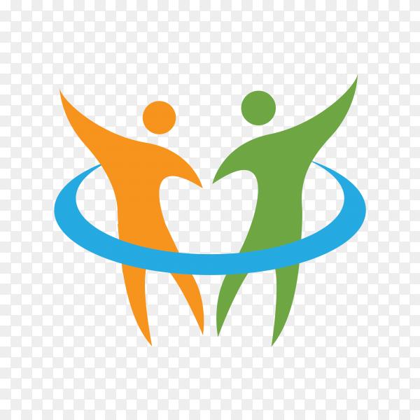 Healthy logo or medical logo on transparent background PNG