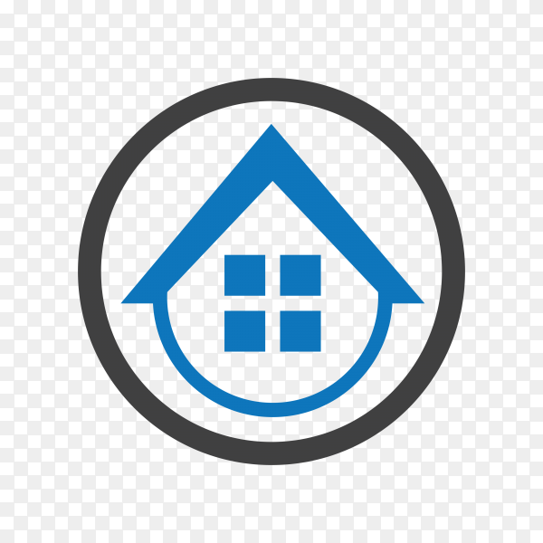 Home buildings logo icon template on transparent background PNG