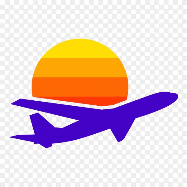 Illustration of Travel agency logo design template on transparent background PNG