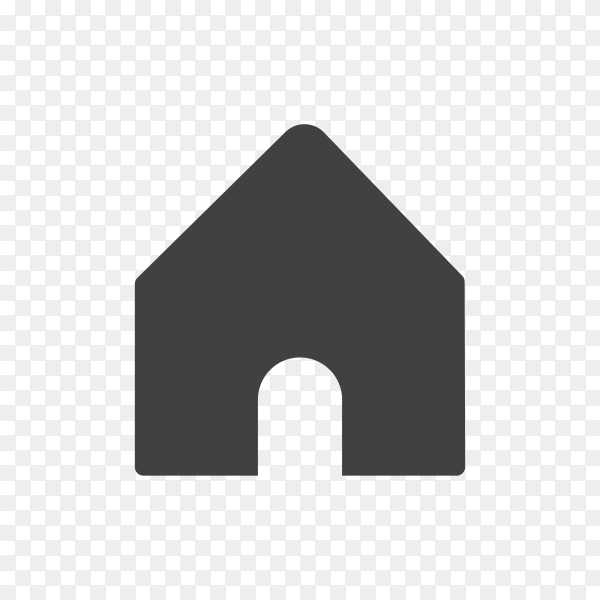 Instagram home icon on transparent background PNG