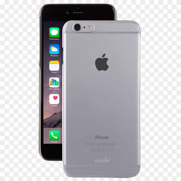 I phone 6s plus isolated on transparent background PNG