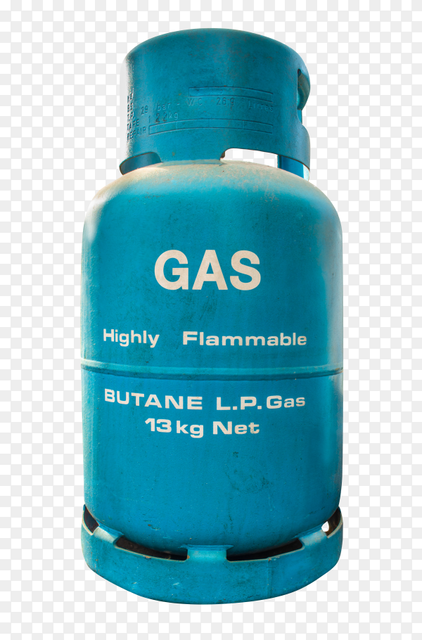 Isolated LP Gas Container on transparent background PNG