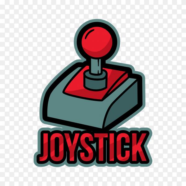 Joystick logo design template on transparent background PNG