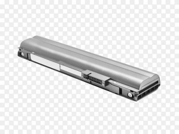 Laptop battery on transparent background PNG