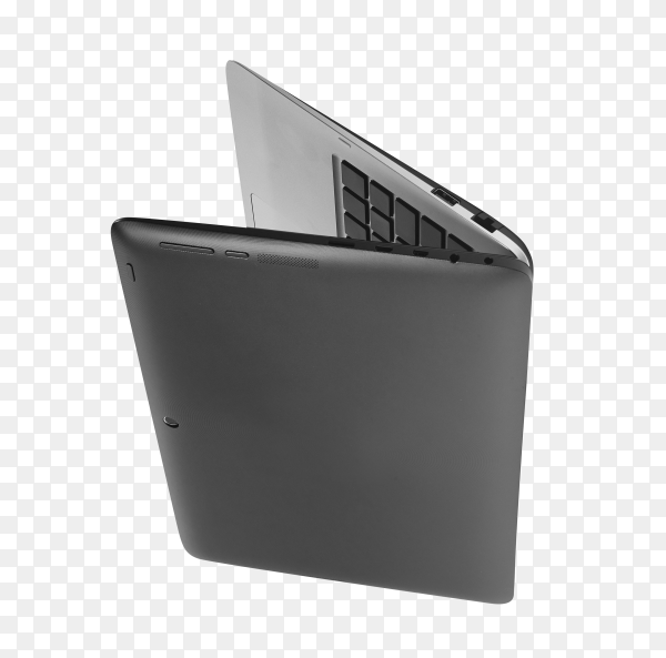 Laptop isolated on transparent background PNG