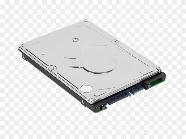Laptop sata hard drive on transparent background PNG