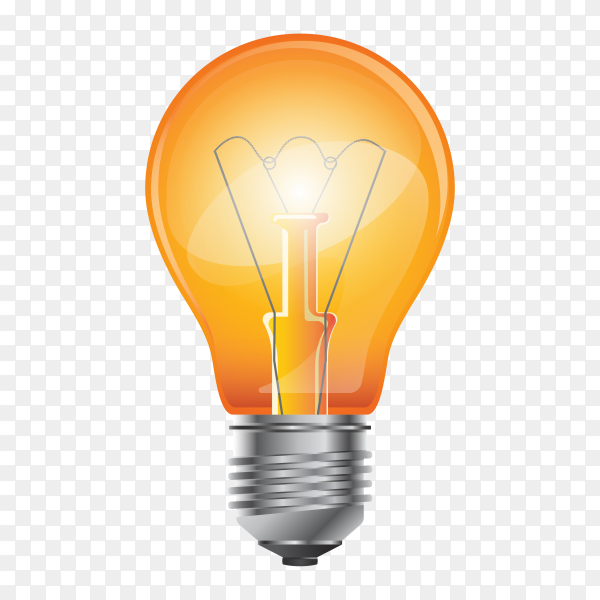 Light Bulb isolated on transparent background PNG