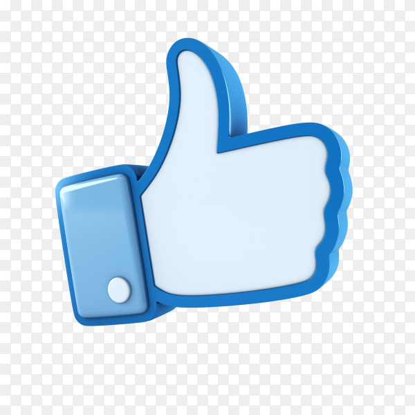 Like icon template on transparent background PNG