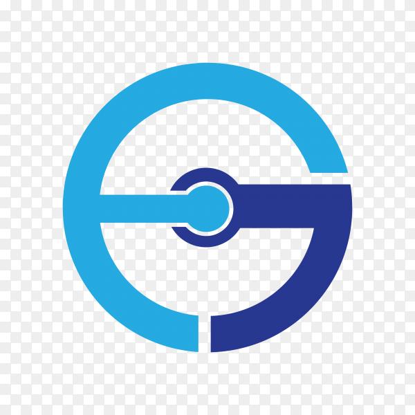 Logo design template in flat design on transparent background PNG