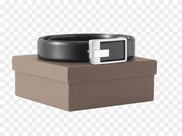 Mans black belt on transparent background PNG