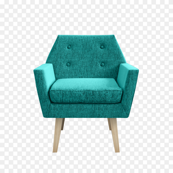 Modern Armchair isolated on transparent background PNG