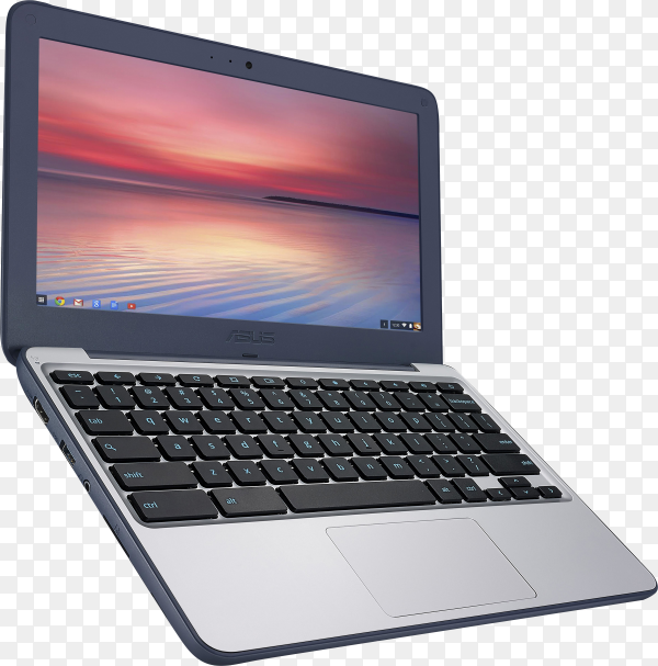 Modern Laptop isolated on transparent background PNG