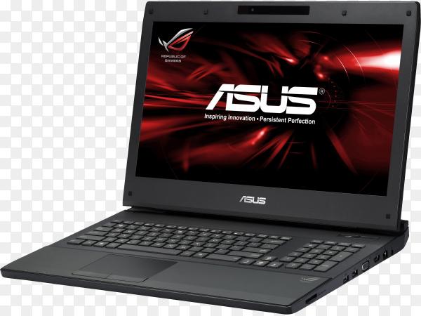 Modern models of laptop on transparent background PNG